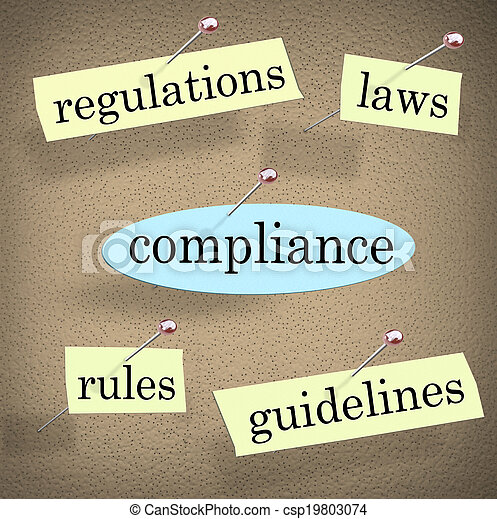 Compliance Rules Regulations Laws Guidelines Bulletin Board - csp19803074