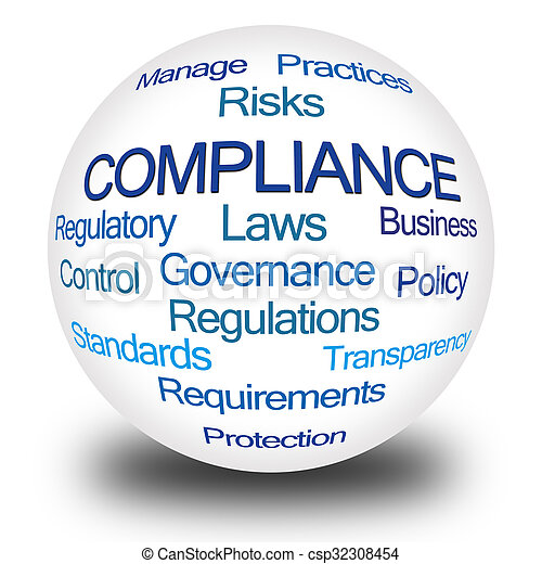Compliance Word Cloud - csp32308454
