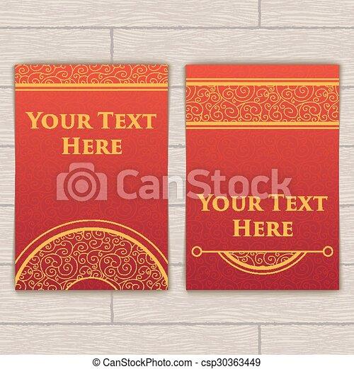complicado, cartões, jogo, red-gold, textura - csp30363449
