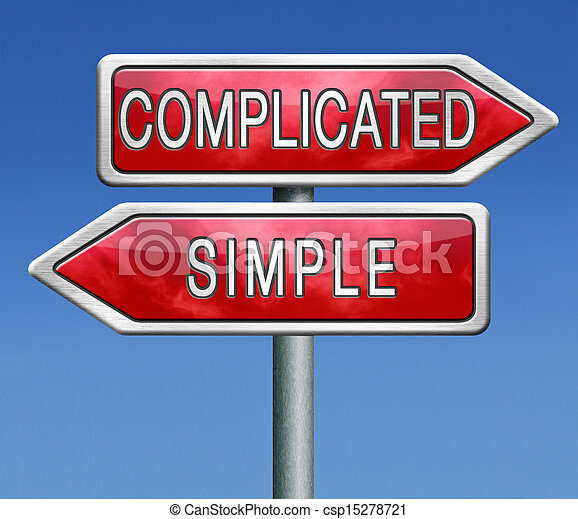 complicated or simple - csp15278721