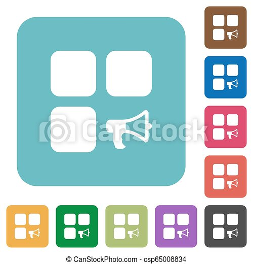 Component alarm rounded square flat icons - csp65008834