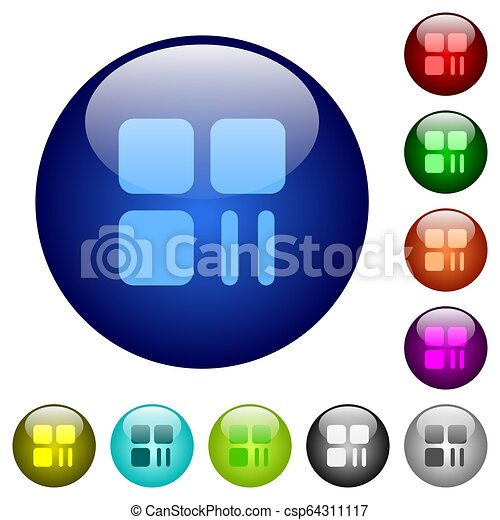 Component pause color glass buttons - csp64311117