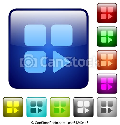 Component play color square buttons - csp64240445