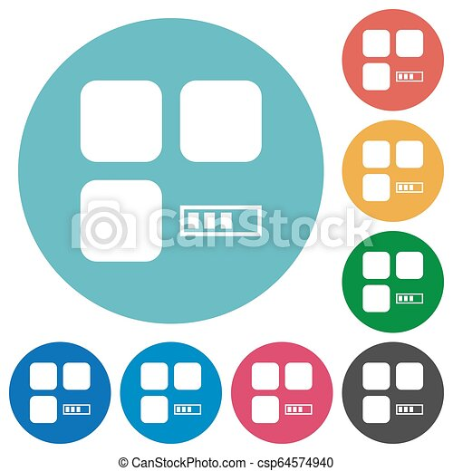 Component processing flat round icons - csp64574940
