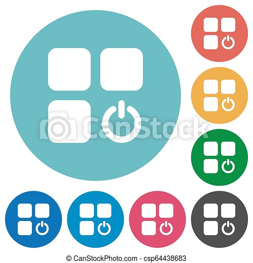 Component switch flat round icons - csp64438683