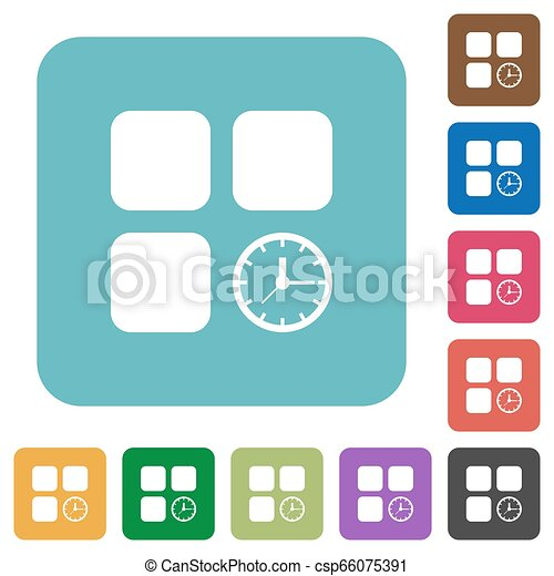 Component timer rounded square flat icons - csp66075391