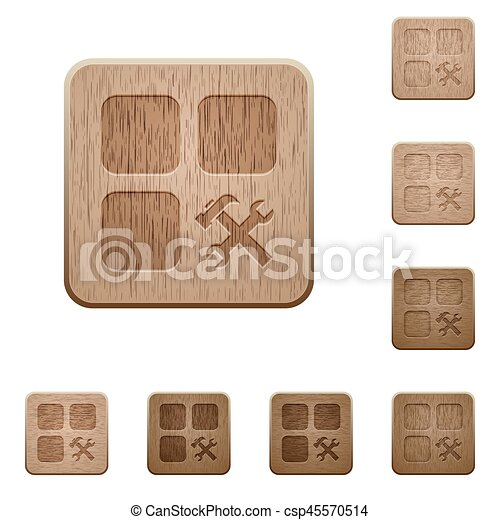 Component tools wooden buttons - csp45570514