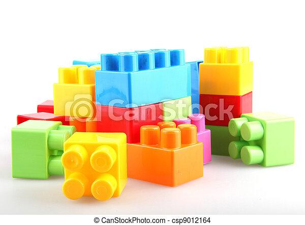 Bloques de construcción de plástico - csp9012164
