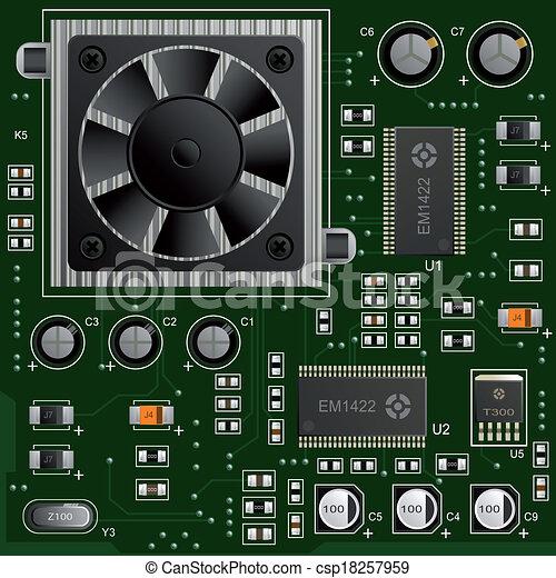 Los componentes electrónicos - csp18257959