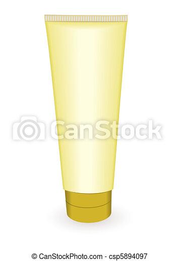 El tubo de maquillaje de oro - csp5894097