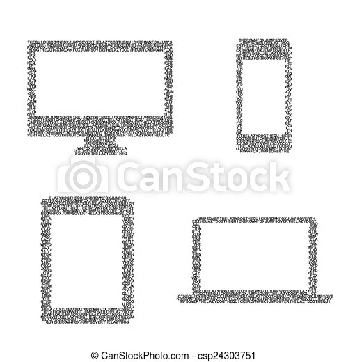 Composed symbols of electronic device. Composed of the symbols of ...