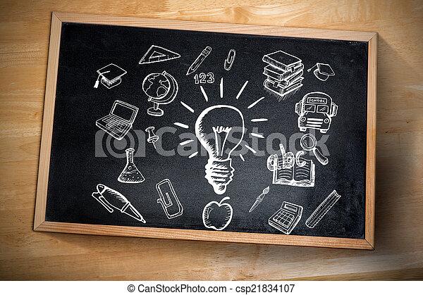 composiet, doodles, beeld, opleiding - csp21834107