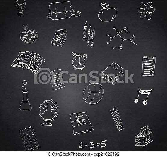 composiet, doodles, beeld, school - csp21826192