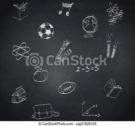 composiet, doodles, beeld, school - csp21826195