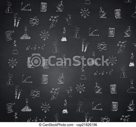 composiet, doodles, beeld, school - csp21826196