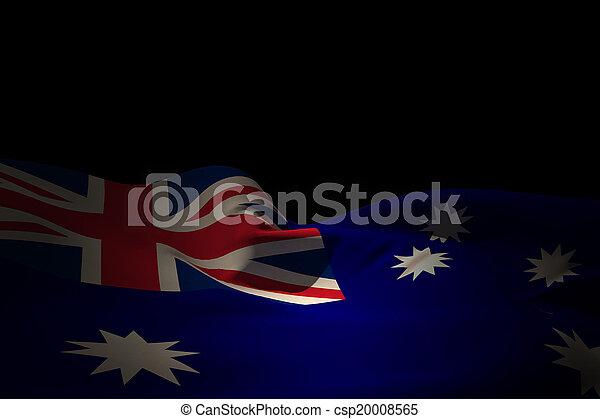 Composite image of australia flag waving - csp20008565