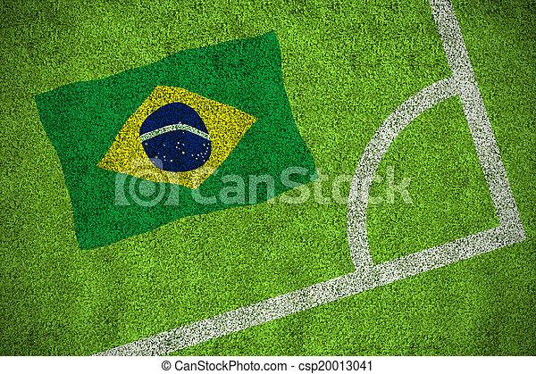 Composite image of brasil national flag - csp20013041