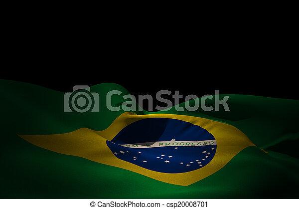 Composite image of brazil flag waving - csp20008701