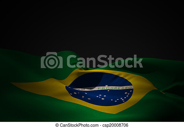Composite image of brazil flag waving - csp20008706