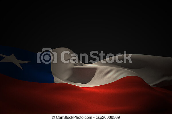 Composite image of chile flag waving - csp20008569