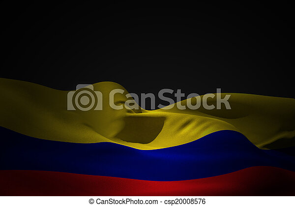 Composite image of colombia flag waving - csp20008576