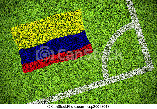 Composite image of colombia national flag - csp20013043
