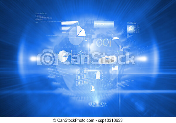 Composite image of data technology background - csp18318633