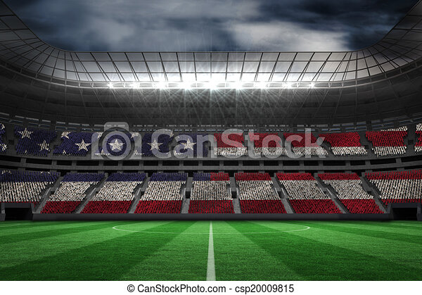 Composite image of digitally generated american national flag - csp20009815