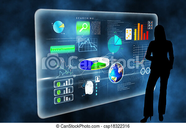 Composite image of futuristic technology interface - csp18322316