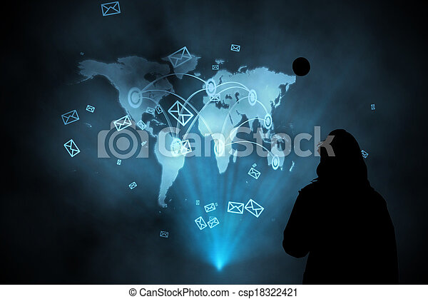 Composite image of futuristic technology interface - csp18322421