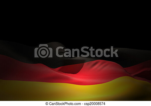 Composite image of germany flag waving - csp20008574