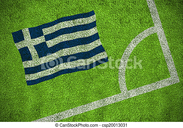 Composite image of greece national flag - csp20013031