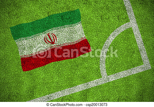 Composite image of iran national flag - csp20013073