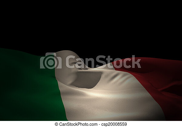 Composite image of italy flag waving - csp20008559
