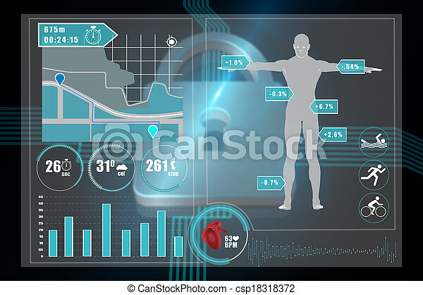 Composite image of medical interface - csp18318372