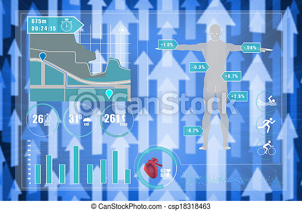 Composite image of medical interface - csp18318463