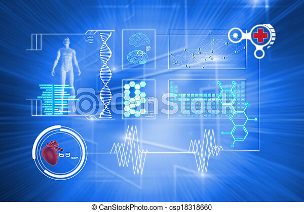 Composite image of medical interface - csp18318660