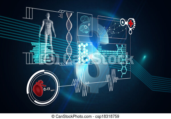 Composite image of medical interface - csp18318759