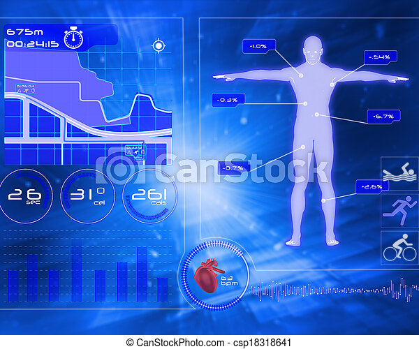 Composite image of medical interface - csp18318641