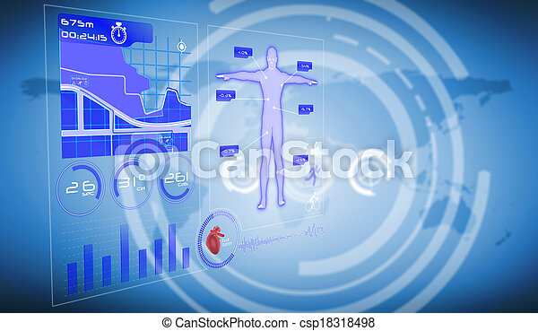 Composite image of medical interface - csp18318498