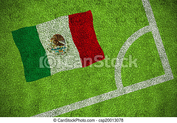 Composite image of mexico national flag - csp20013078