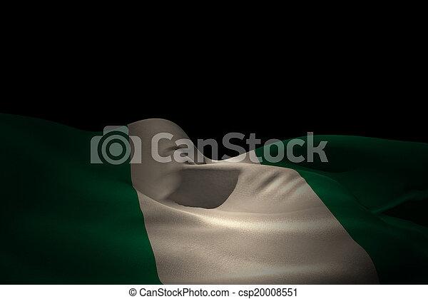 Composite image of nigeria flag waving - csp20008551