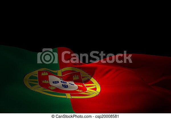 Composite image of portugal flag waving - csp20008581