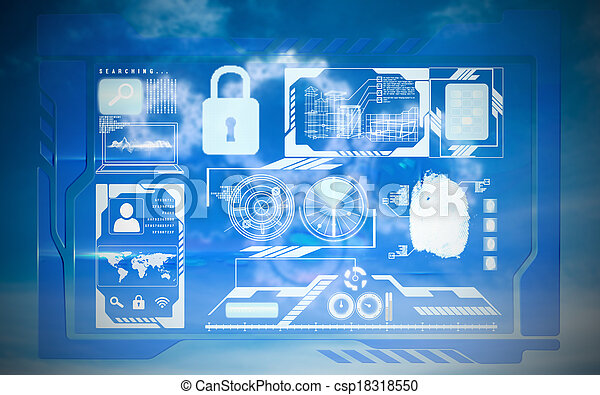 Composite image of security interface - csp18318550