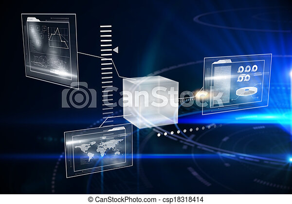 Composite image of technology interface - csp18318414