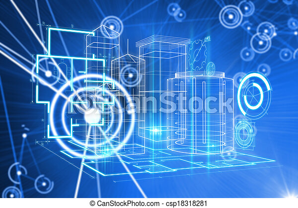 Composite image of technology interface - csp18318281