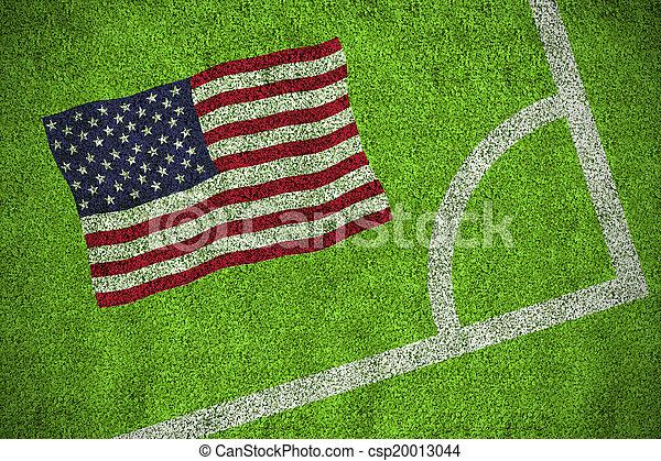 Composite image of usa national flag - csp20013044