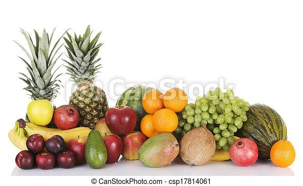 composition., fruits frais - csp17814061