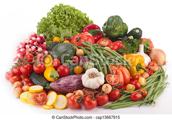 composition of raw vegetables - csp13667915