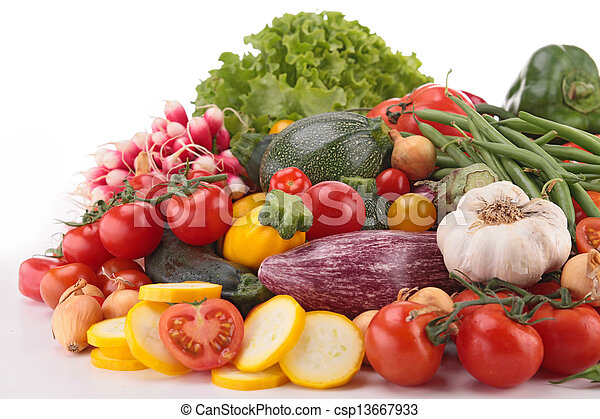 composition of raw vegetables - csp13667933
